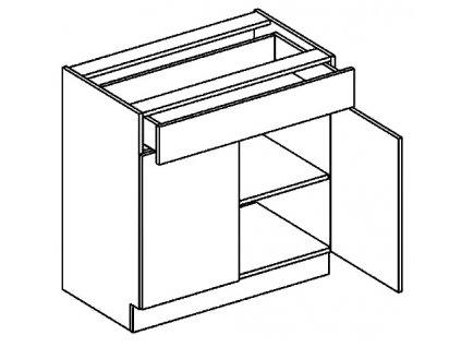 D80/S1 dolní skříňka se zásuvkou CLAUDIE sonoma