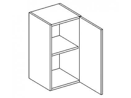 W30/58 horní skříňka jednodvéřová CLAUDIE picard