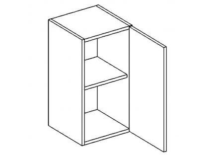 W40/58 horní skříňka jednodvéřová CLAUDIE sonoma