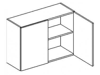 W80/58 horní skříňka dvojdvéřová CLAUDIE picard