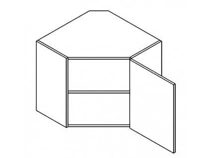 WR/58 horní skříňka rohová CLAUDIE sonoma