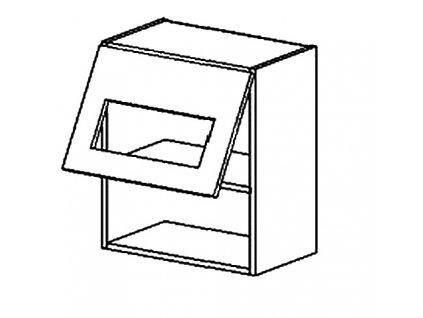 WS50/58 PD h. vitrína jednodvéřová CLAUDIE picard