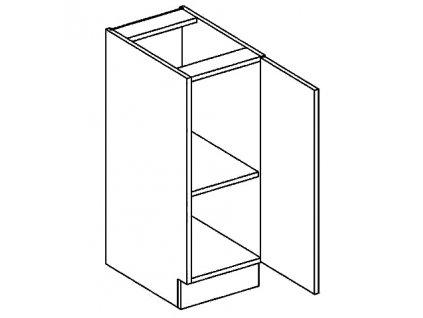 D30 dolní skříňka pravá PALMYRA šedá/mocca
