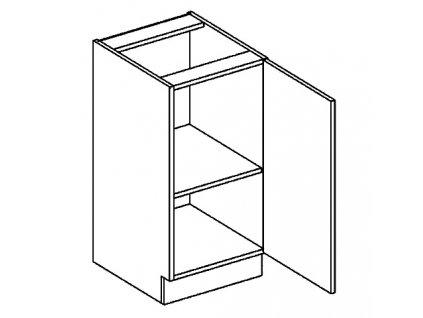 D40 dolní skříňka pravá PALMYRA šedá/mocca