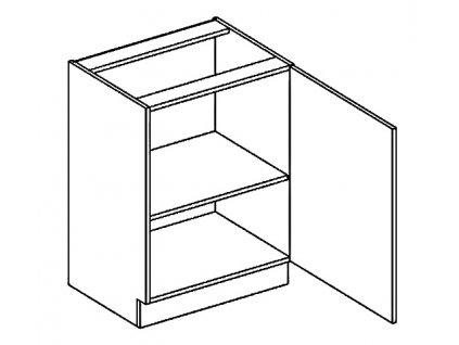 D60 d. skříňka LUCIA dub sonoma