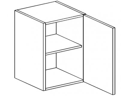 W60 h. skříňka LUCIA černá mat