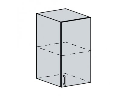 40H h. skříňka 1-dveřová GREECE bk/bílá metalic
