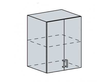 60H h. skříňka 2-dveřová GREECE bk/granát metalic