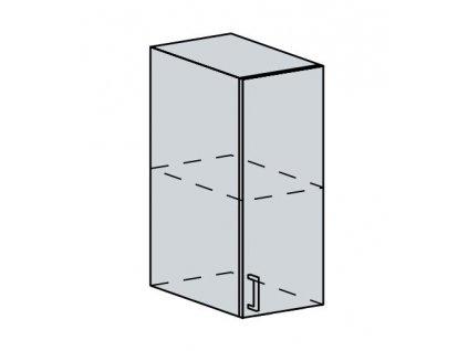 30H h. skříňka 1-dveřová PROVENCE šedá