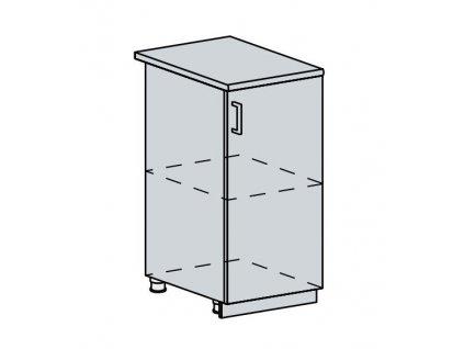 40D d. skříňka 1-dveřová PROVENCE šedá