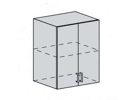 60H h. skříňka 2-dveřová PROVENCE bílá