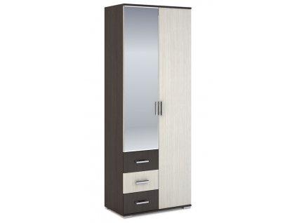 Šatní skříň 2-dveřová ROCHEL 45 cm belfort/wenge