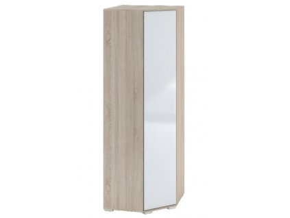 Šatní rohová skříň TERRA sonoma/bílá lesk