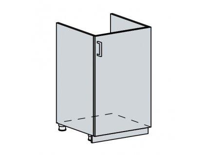 50DZ d. skříňka 1-dveřová pod dřez VALERIA bk/white stripe