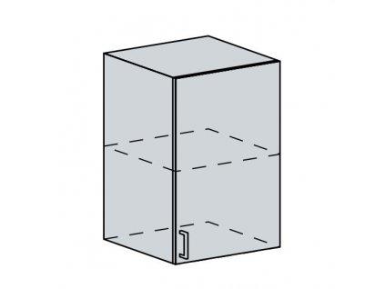 50H h. skříňka 1-dveřová VALERIA bk/red stripe