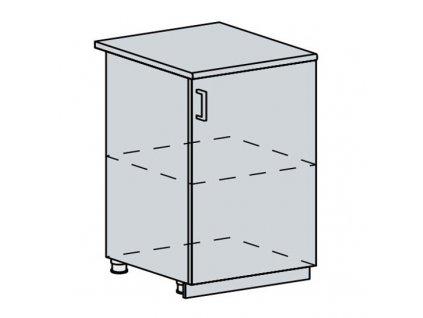60D1D d. skříňka 1-dveřová VALERIA bk/white stripe