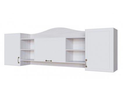 Závěsný regál 3D AKVAREL jasan angkor světlý/bílá mat