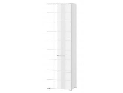 Skříň 2-dveřová se zrcadlem SELENE 22 bílá lesk