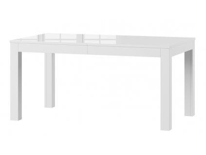 Jídelní stůl rozkládací SICILIA bílá lesk