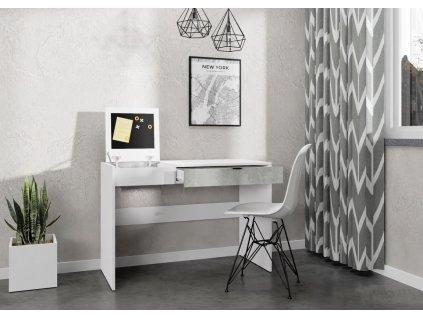 Pracovní stůl SONORA bílá/sv. ateliér