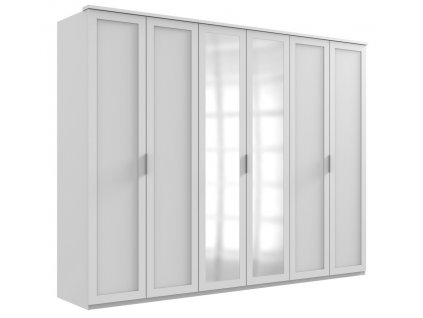 Šatní skříň 6-dveřová MARGITA 567 bílá