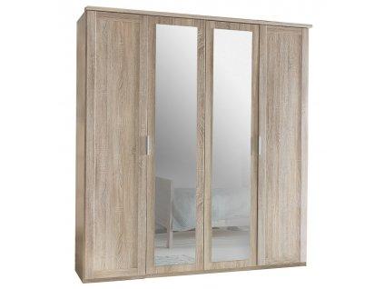 Šatní skříň 4-dveřová MARGITA 568 dub