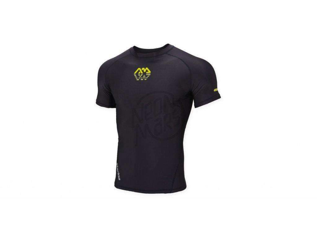 Pánské lykrové tričko  Aqua Marina Scenc černé