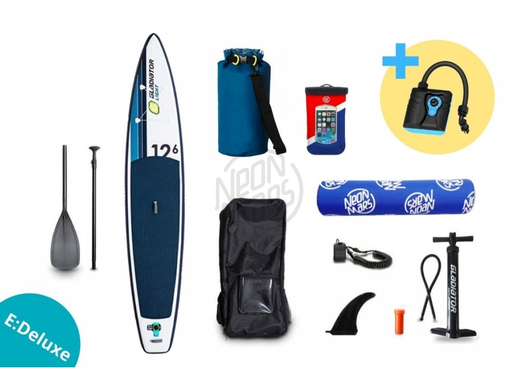 paddleboard gladiator light sport 12,6 set edeluxe