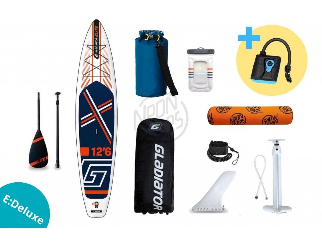 paddleboard gladiator elite 12,6 sport vyhodny set edeluxe