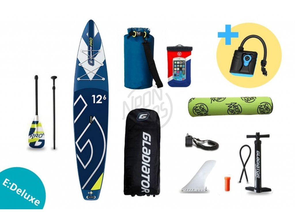 paddleboard gladiator PRO 12,6 sport set edeluxe