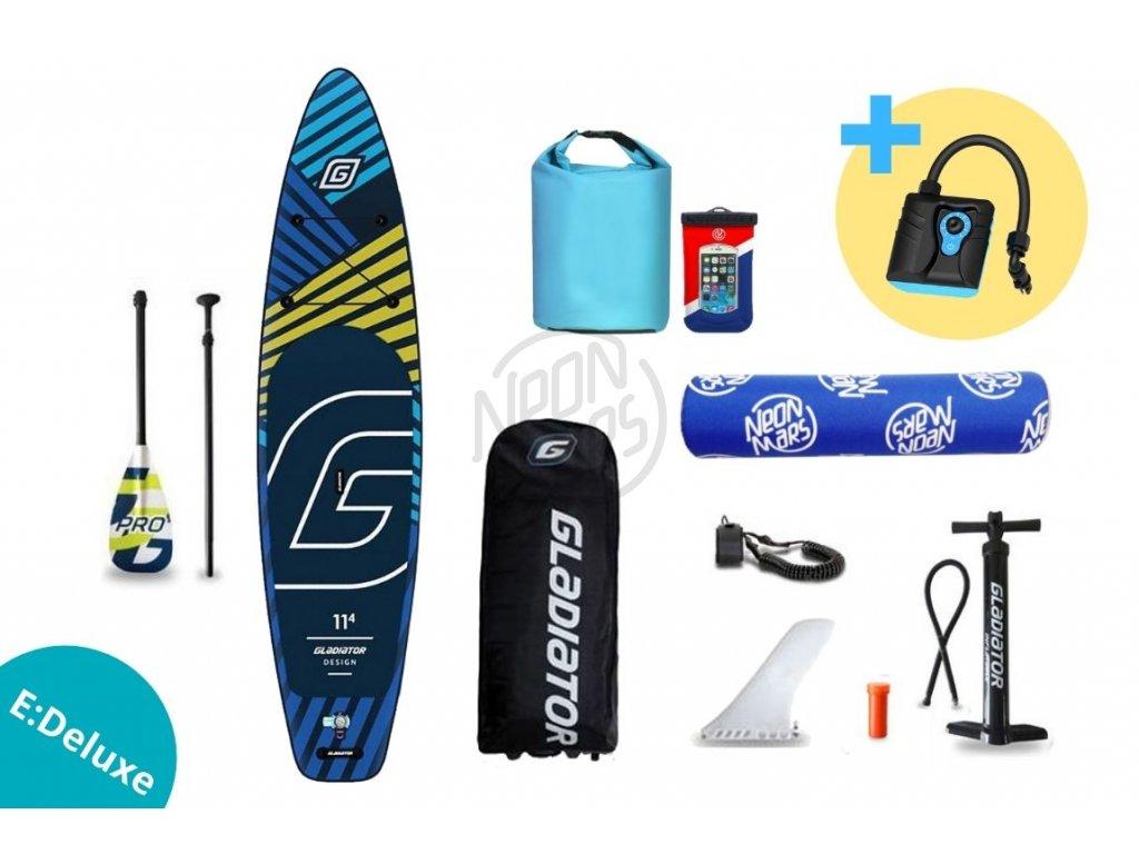 paddleboard gladiator pro design 11,4 set edeluxe