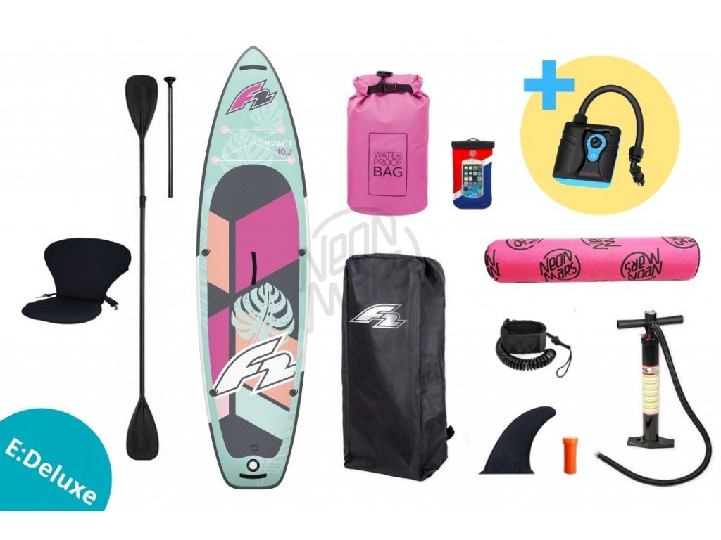 paddleboard f2 impact pink 10 2 set edeluxe