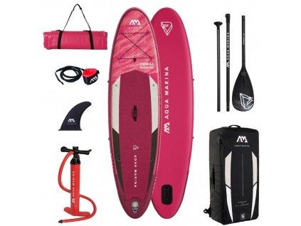damsky paddleboard aqua marina coral