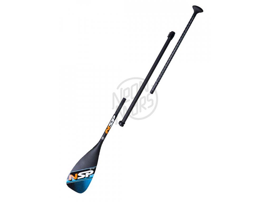 padla na paddleboardy nsp carbon hybrid 86 3d