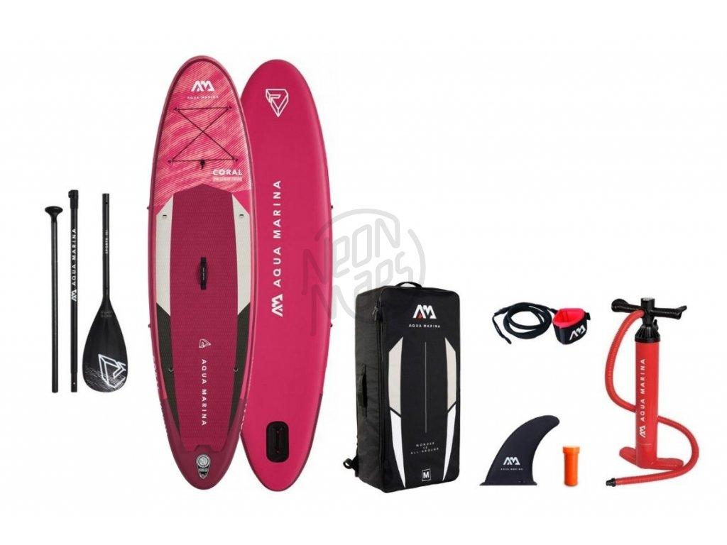 paddleboard aquamarina coral