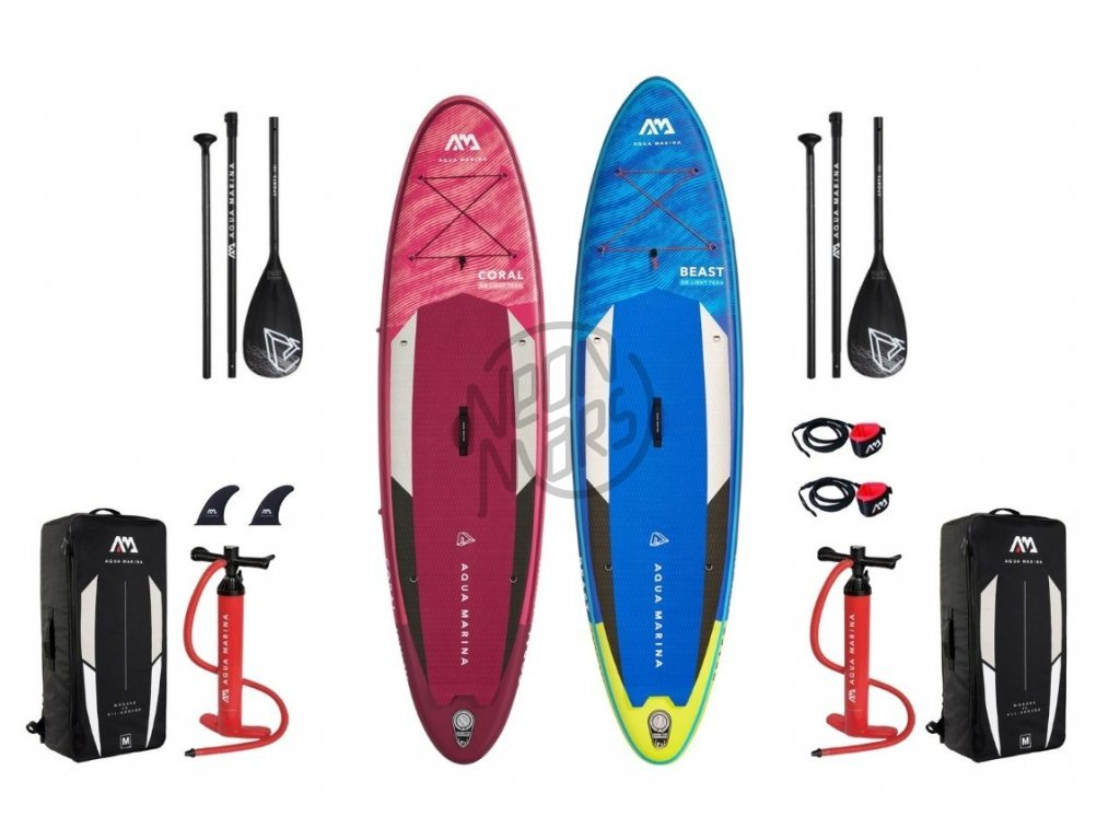 paddleboard aqua marina coral beast set