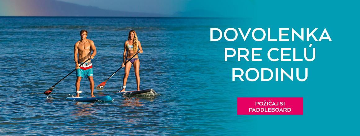Požičaj si paddleboard na dovolenku