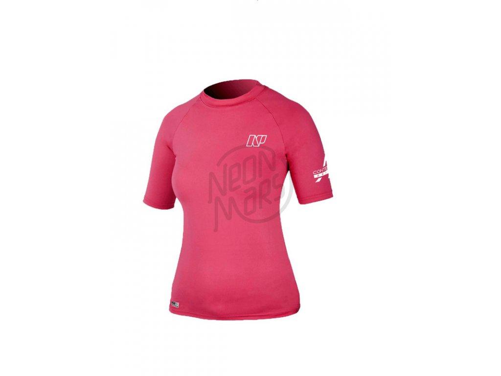 58849c618f84 Ružové dámske lykrové tričko s krátkym rukávom NP Surf Contender Ladies   S S -
