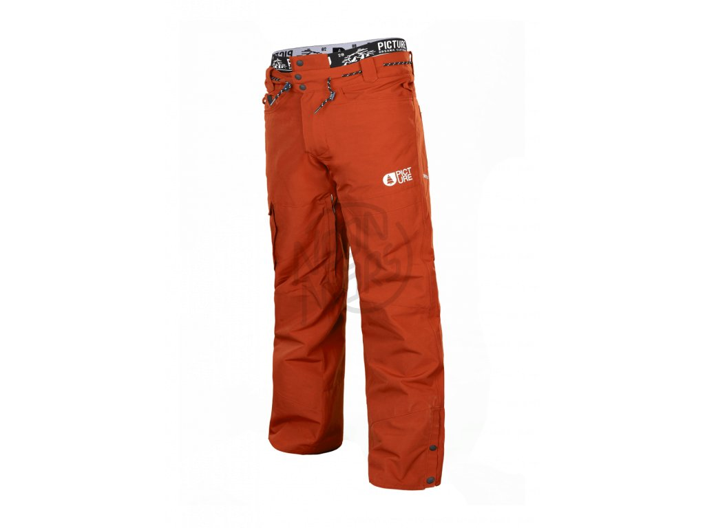 c27aee8568f6 Pánske lyžiarske a snowboardové oranžové nohavice Picture Under 10 10