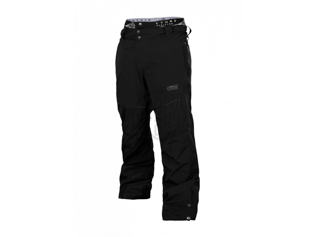 4164452519a8 Pánske lyžiarske a snowboardové čierne nohavice Picture Naikoon 20 20