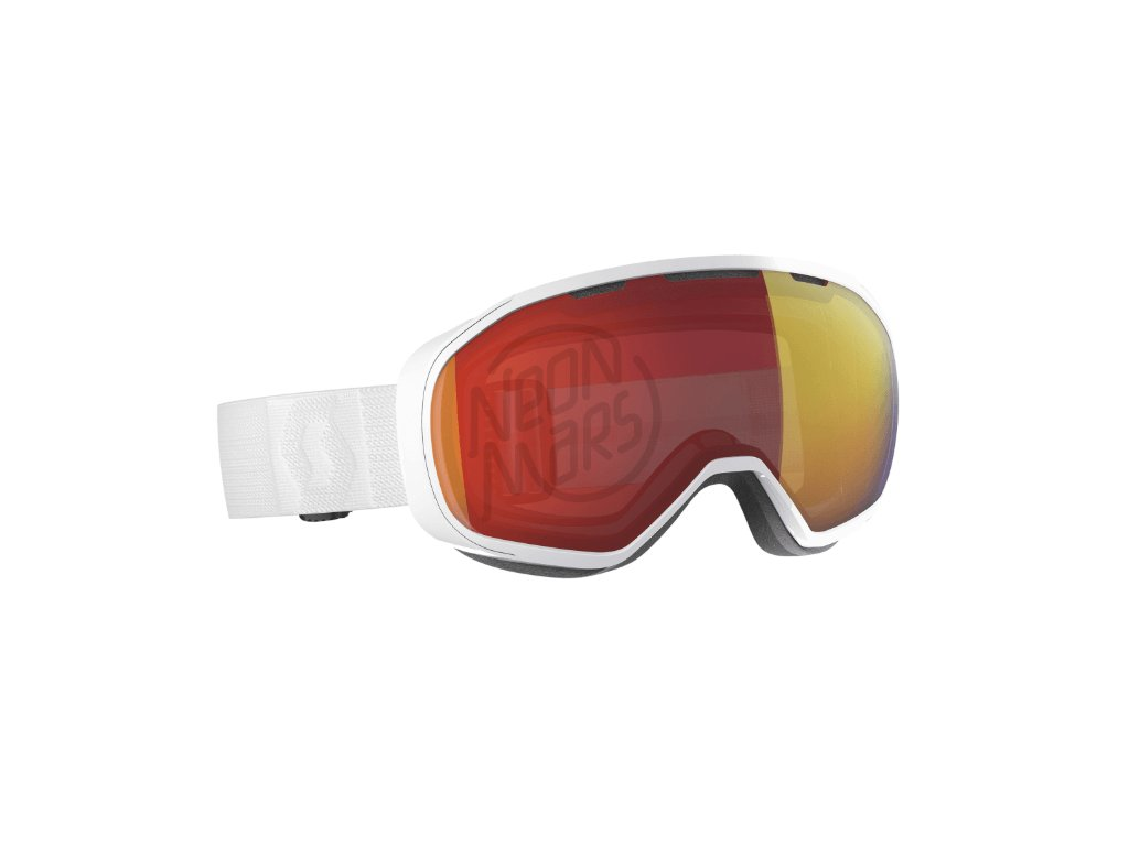 okuliare na lyze a snowboard scott fix white enhancer red chrome
