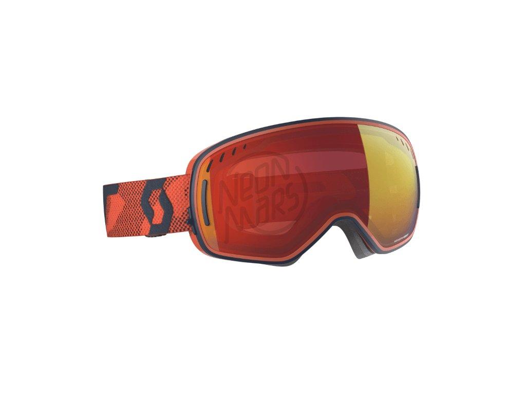 okuliare na lyze a snowboard scott lcg blue orange enhancer red chrome