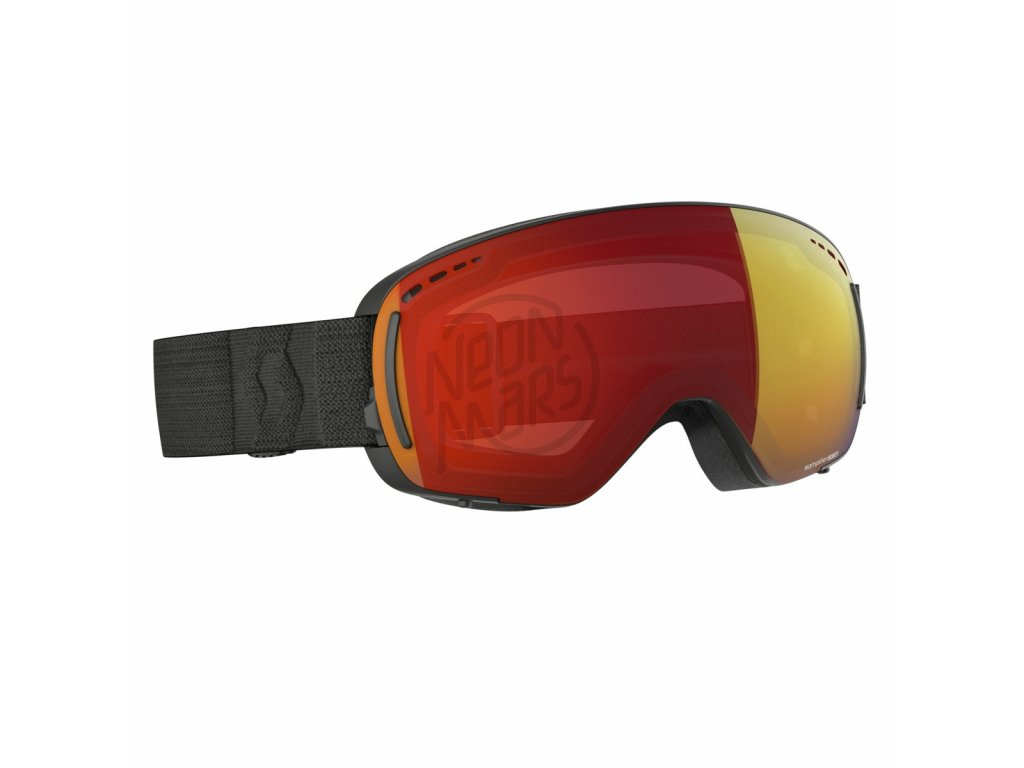 Okuliare na lyže a snowboard Scott LCG Black Enhancer Red Chrome ... 19a7d343dfb