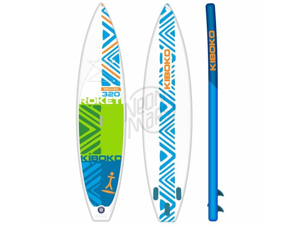SUP Kiboko Roketi 320 FT 2019 paddleboard neonmars