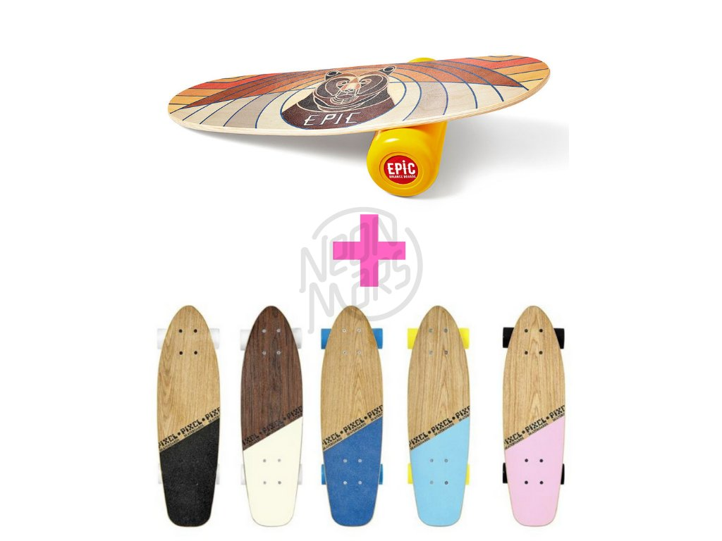 Balance board Rocker + Pixel Woody