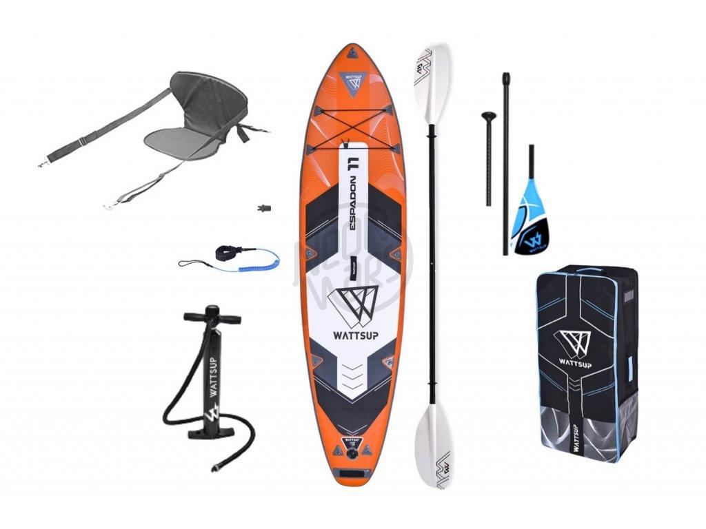 paddleboard wattsup espadon kajak set