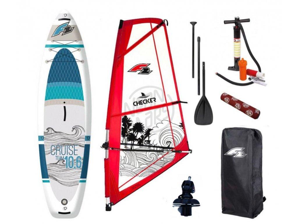 Windsurfový set F2 Cruise 10'6''+ F2 Checker rig  Paddleboard aj windsurf