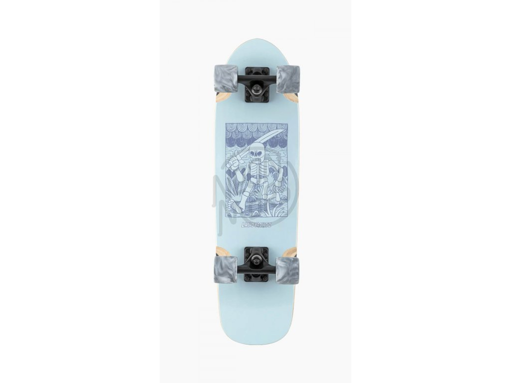 longboard landyachtz dinghy adventure skeleton