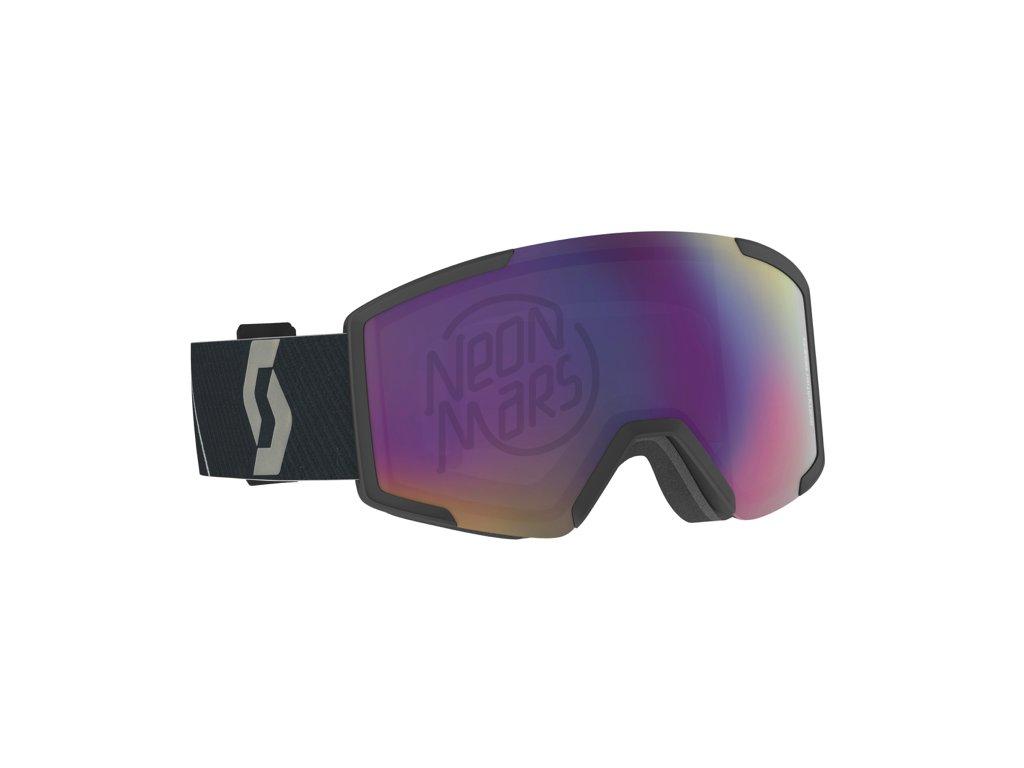 lyziarske okuliare scott shield extra lens mountain black teal chrome