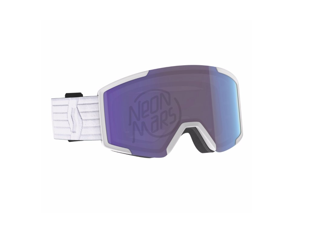 lyziarske okuliare scott shield extra lens white blue chrome